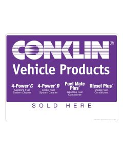 VEHICLE PRODUCTS RETAIL SIGN